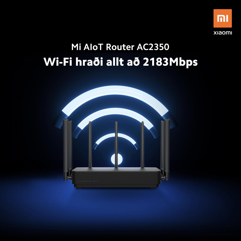 Mi AIoT AC2350 Router - Wifi hraði 2183mbps