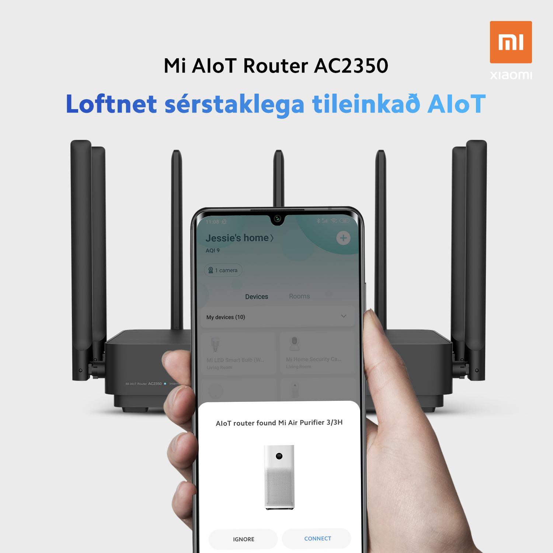 Mi AIoT AC2350 Router - Sérstaklega tileinkað AIoT loftnet